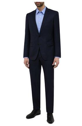 Мужские кожаные оксфорды BOSS черного цвета, арт. 50454993 | Фото 2 (Стили: Классический)