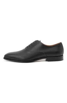 Мужские кожаные оксфорды BOSS черного цвета, арт. 50454993   Фото 3