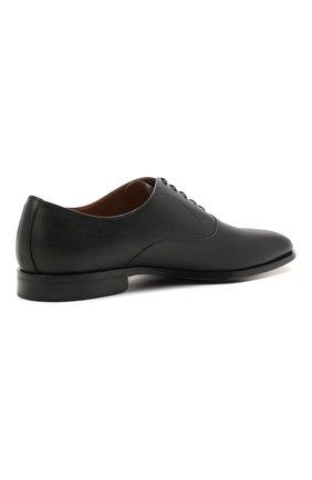 Мужские кожаные оксфорды BOSS черного цвета, арт. 50454993   Фото 4