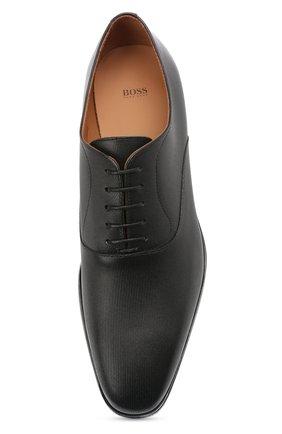 Мужские кожаные оксфорды BOSS черного цвета, арт. 50454993   Фото 5