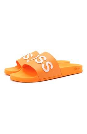 Мужские шлепанцы BOSS оранжевого цвета, арт. 50425152 | Фото 1