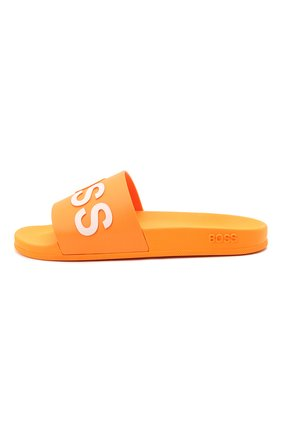 Мужские шлепанцы BOSS оранжевого цвета, арт. 50425152 | Фото 3