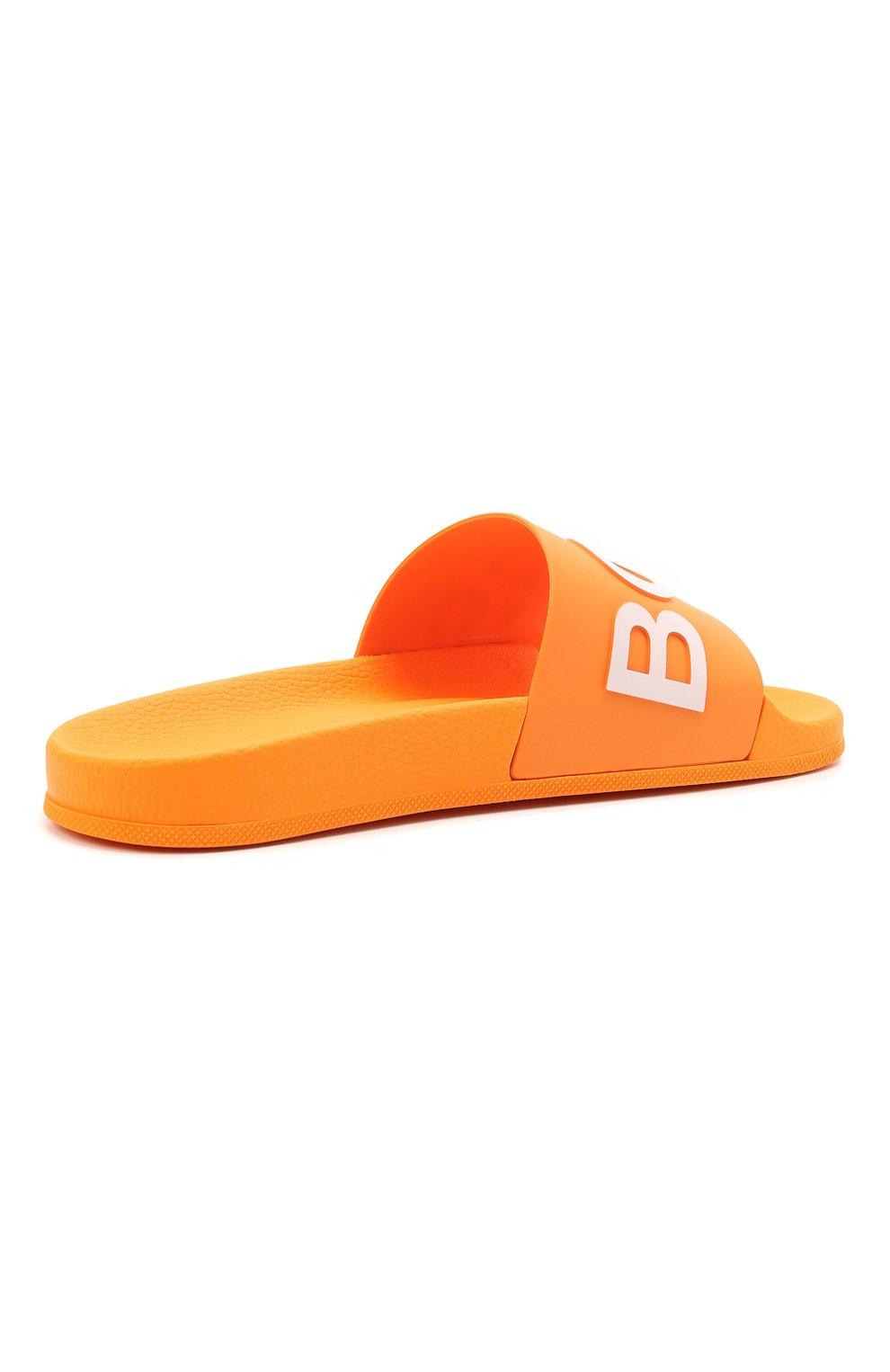 Мужские шлепанцы BOSS оранжевого цвета, арт. 50425152 | Фото 4