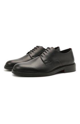 Мужские кожаные дерби HUGO черного цвета, арт. 50455186 | Фото 1