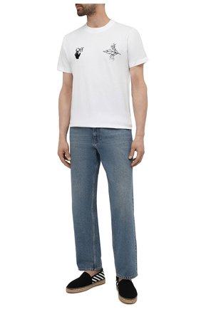 Мужские текстильные эспадрильи OFF-WHITE черного цвета, арт. 0MIB002S21FAB0011001 | Фото 2 (Материал внешний: Текстиль; Материал внутренний: Текстиль)