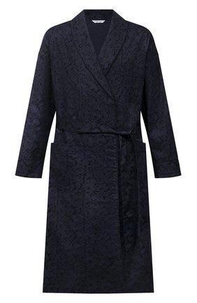 Мужской хлопковый халат ROBERTO RICETTI темно-синего цвета, арт. VESTAGLIA R0BE/C2611 | Фото 1