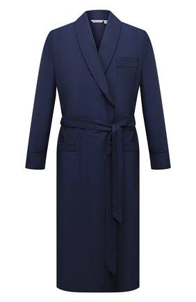 Мужской хлопковый халат ROBERTO RICETTI синего цвета, арт. VESTAGLIA R0BE/B2603 | Фото 1