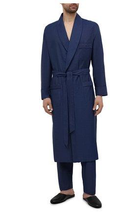 Мужской хлопковый халат ROBERTO RICETTI синего цвета, арт. VESTAGLIA R0BE/B2603 | Фото 2