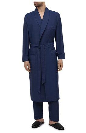 Мужские хлопковые домашние брюки ROBERTO RICETTI синего цвета, арт. PANTAPA PIGIAMA/B2603 | Фото 2