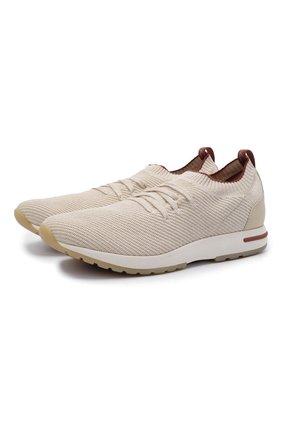 Мужские текстильные кроссовки 360 lp flexy walk LORO PIANA бежевого цвета, арт. FAL6185 | Фото 1