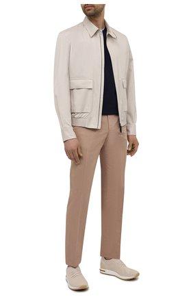 Мужские текстильные кроссовки 360 lp flexy walk LORO PIANA бежевого цвета, арт. FAL6185 | Фото 2