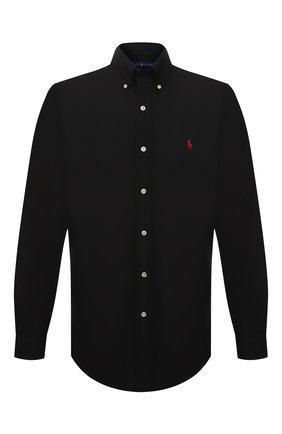 Мужская хлопковая рубашка POLO RALPH LAUREN черного цвета, арт. 710792044 | Фото 1