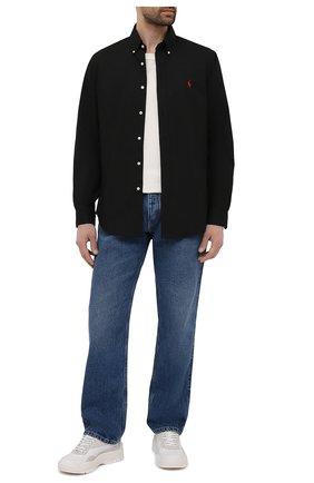 Мужская хлопковая рубашка POLO RALPH LAUREN черного цвета, арт. 710792044 | Фото 2