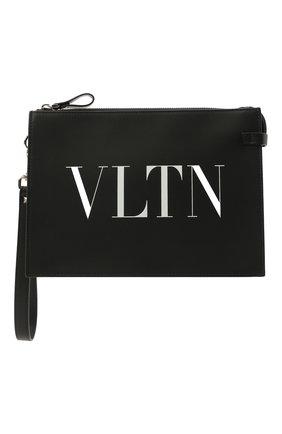 Мужская кожаный клатч VALENTINO черного цвета, арт. WY2P0P09/LVN   Фото 1