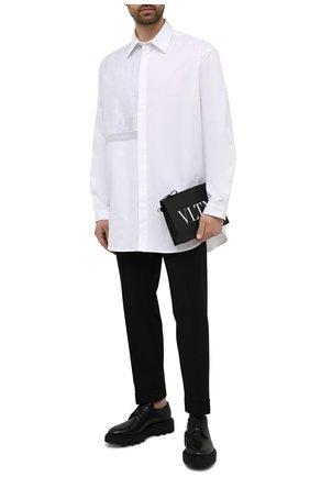 Мужская кожаный клатч VALENTINO черного цвета, арт. WY2P0P09/LVN   Фото 2