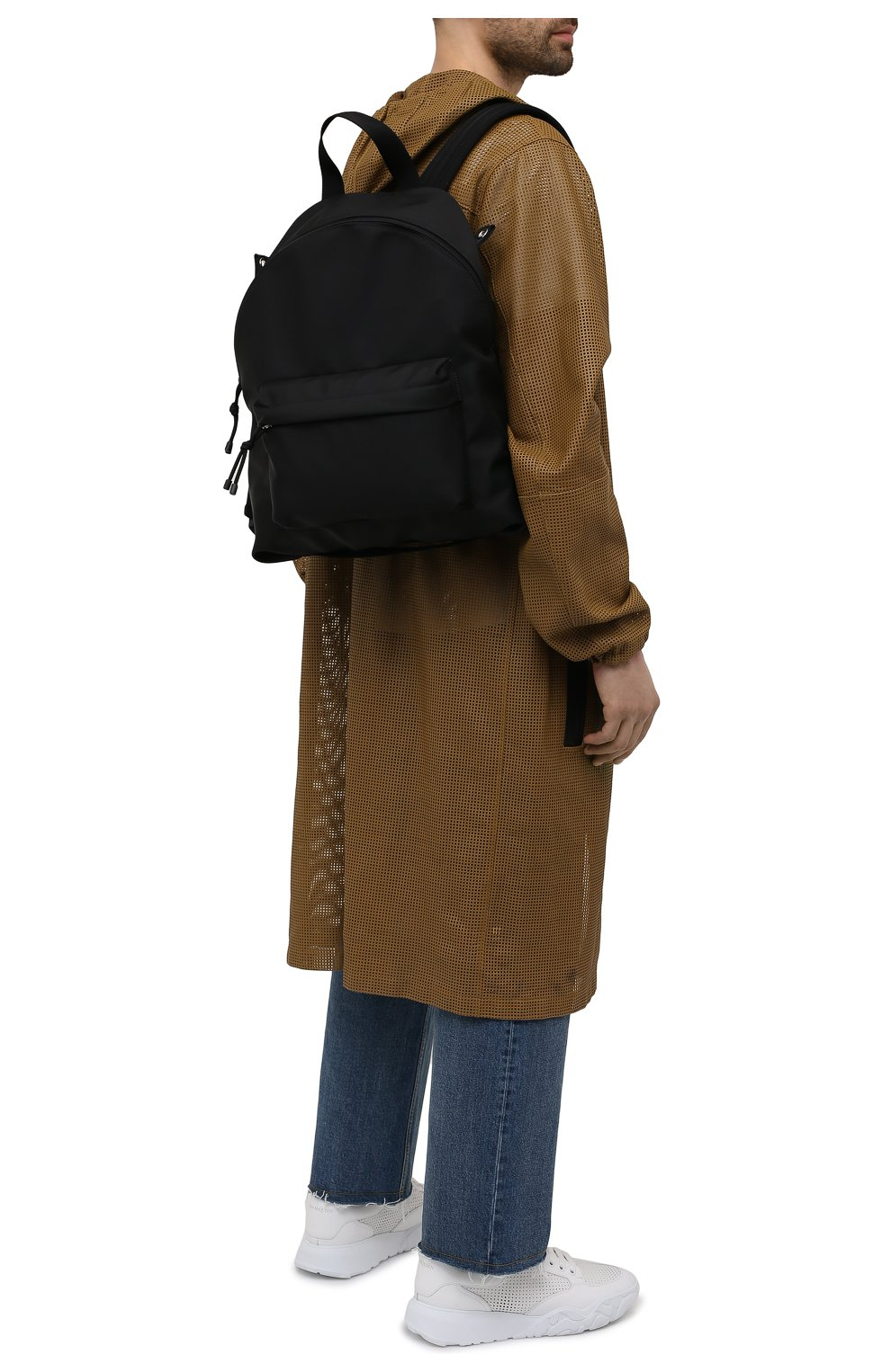 Мужской текстильный рюкзак VALENTINO черного цвета, арт. WY2B0A98/HQH | Фото 2 (Ремень/цепочка: На ремешке; Материал: Текстиль)
