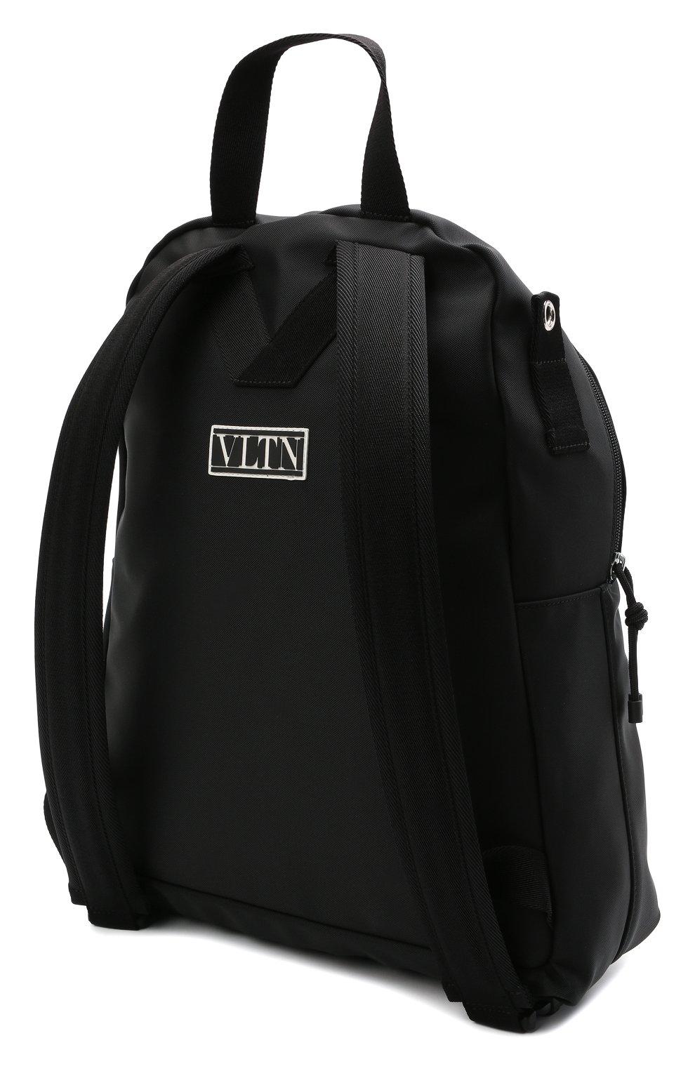 Мужской текстильный рюкзак VALENTINO черного цвета, арт. WY2B0A98/HQH | Фото 3 (Ремень/цепочка: На ремешке; Материал: Текстиль)