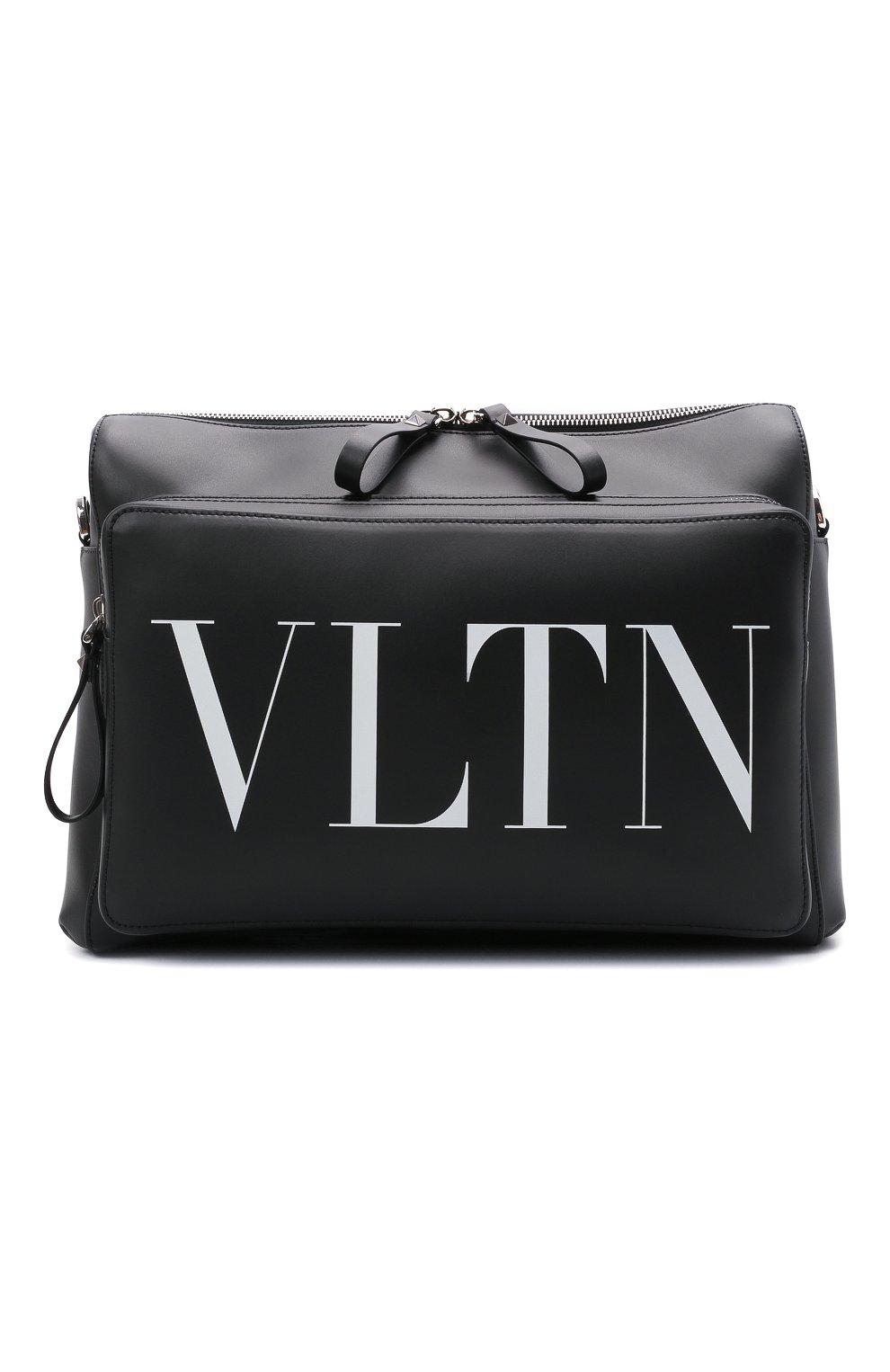 Мужская кожаная сумка VALENTINO черного цвета, арт. WY2B0722/WJW | Фото 1