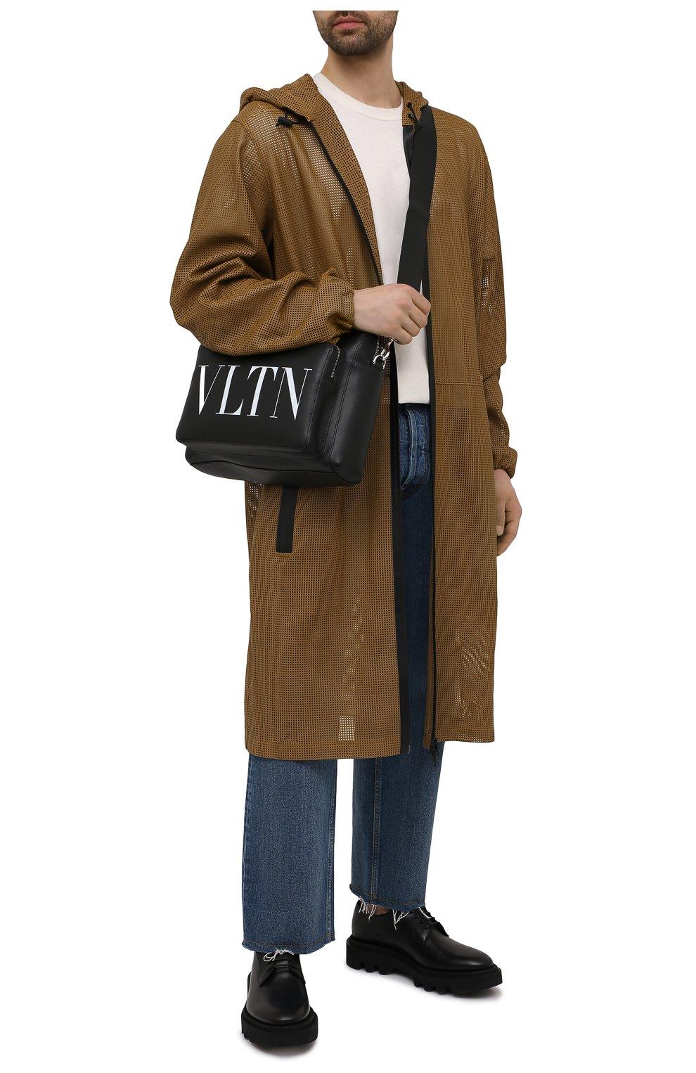 Мужская кожаная сумка VALENTINO черного цвета, арт. WY2B0722/WJW | Фото 2