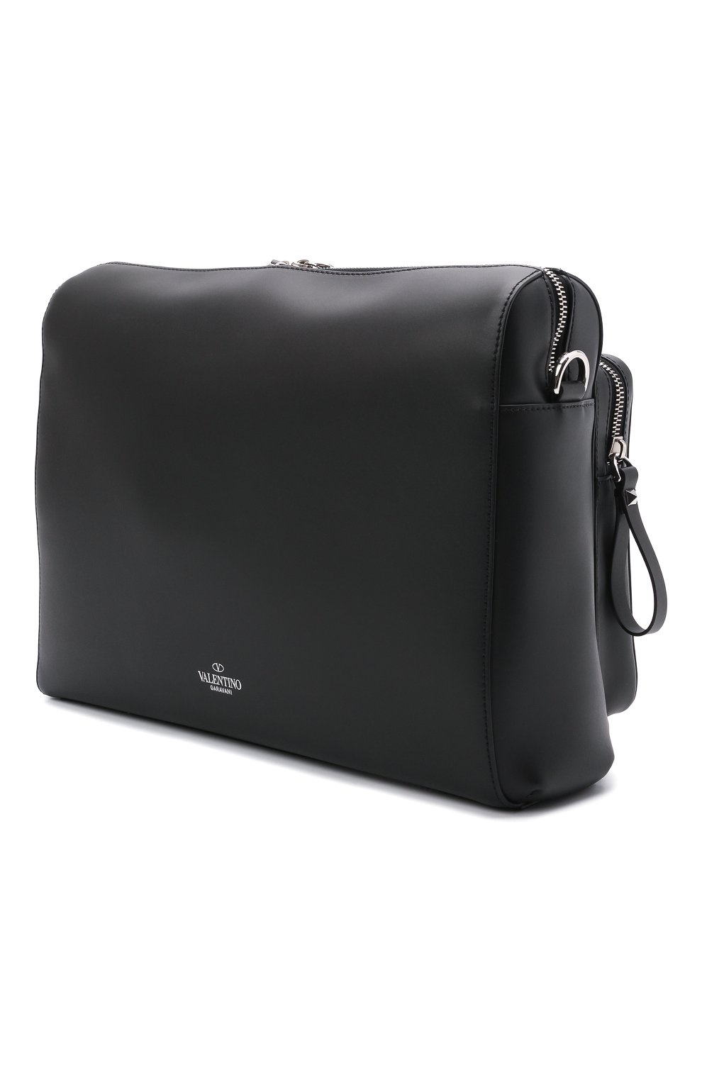 Мужская кожаная сумка VALENTINO черного цвета, арт. WY2B0722/WJW | Фото 3