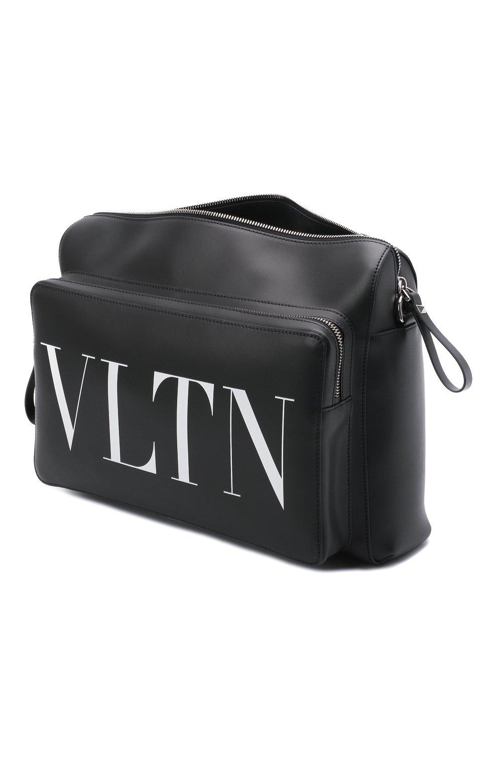 Мужская кожаная сумка VALENTINO черного цвета, арт. WY2B0722/WJW | Фото 4