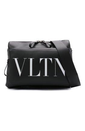 Мужская кожаная сумка VALENTINO черного цвета, арт. WY2B0722/WJW | Фото 5