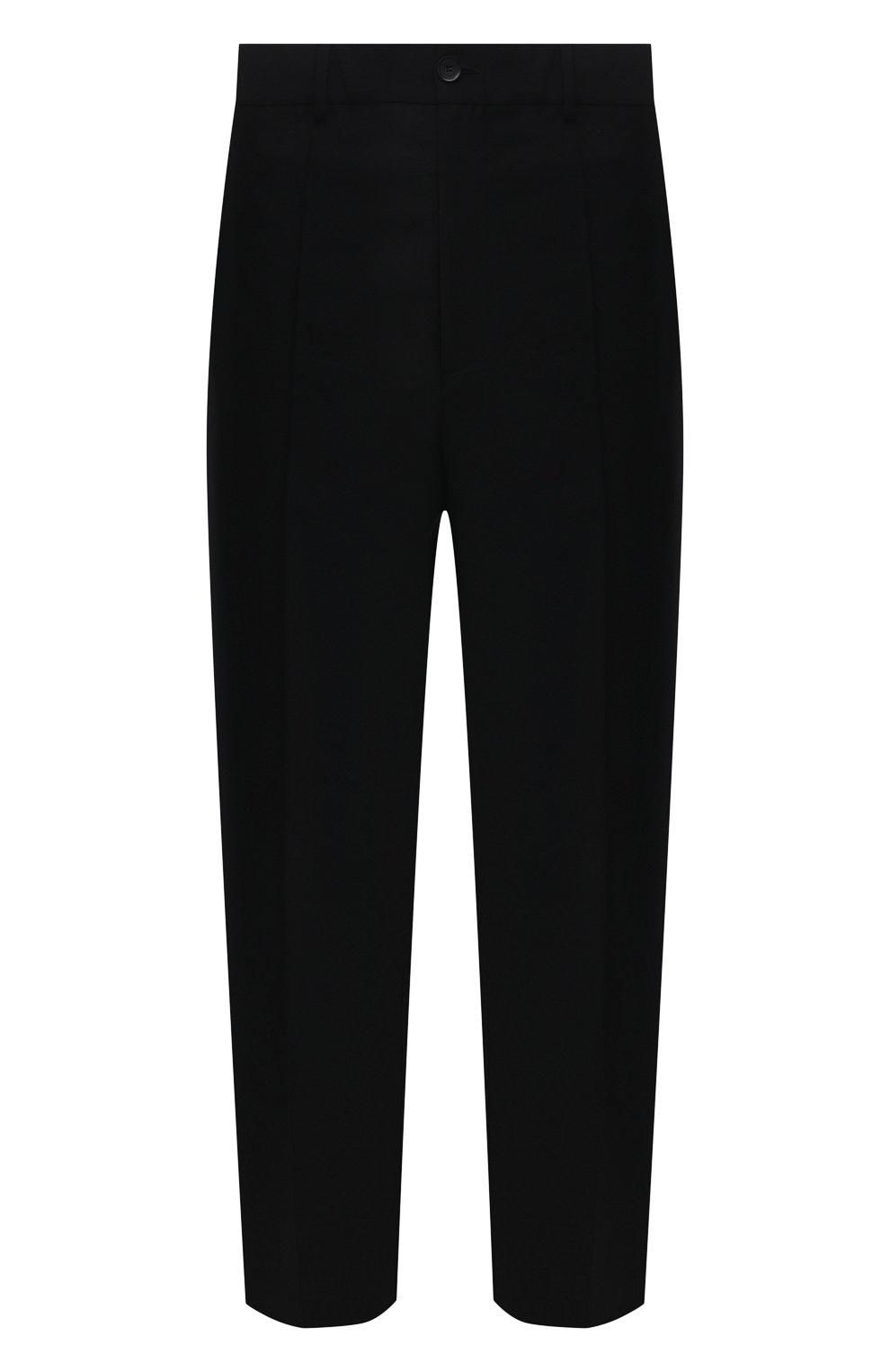 Мужские шерстяные брюки VALENTINO черного цвета, арт. WV3RBG9025S   Фото 1 (Материал внешний: Шерсть; Длина (брюки, джинсы): Стандартные; Случай: Повседневный; Стили: Минимализм)
