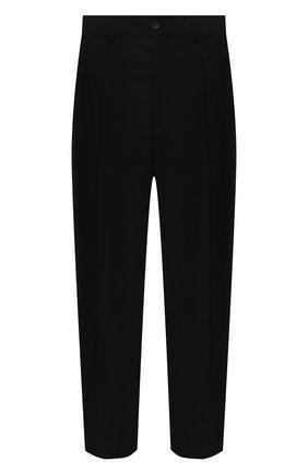 Мужские шерстяные брюки VALENTINO черного цвета, арт. WV3RBG9025S | Фото 1 (Стили: Минимализм; Случай: Повседневный; Длина (брюки, джинсы): Стандартные; Материал внешний: Шерсть)