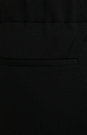 Мужские шерстяные брюки VALENTINO черного цвета, арт. WV3RBG9025S   Фото 5 (Материал внешний: Шерсть; Длина (брюки, джинсы): Стандартные; Случай: Повседневный; Стили: Минимализм)
