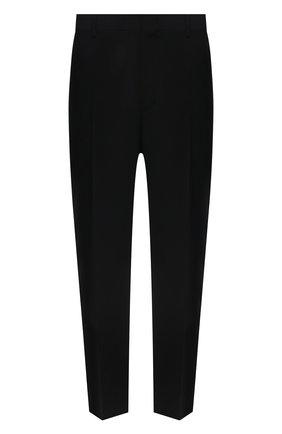 Мужские шерстяные брюки VALENTINO черного цвета, арт. WV3RBG8125S | Фото 1 (Материал внешний: Шерсть; Длина (брюки, джинсы): Стандартные; Случай: Повседневный; Стили: Минимализм)