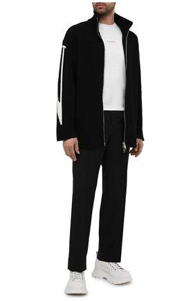 Мужские шерстяные брюки VALENTINO черного цвета, арт. WV3RBG8125S | Фото 2 (Материал внешний: Шерсть; Длина (брюки, джинсы): Стандартные; Случай: Повседневный; Стили: Минимализм)