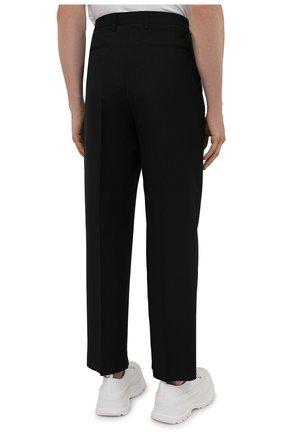 Мужские шерстяные брюки VALENTINO черного цвета, арт. WV3RBG8125S | Фото 4 (Материал внешний: Шерсть; Длина (брюки, джинсы): Стандартные; Случай: Повседневный; Стили: Минимализм)
