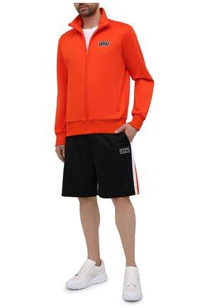 Мужские хлопковые шорты VALENTINO черного цвета, арт. WV3MD03D7LY | Фото 2