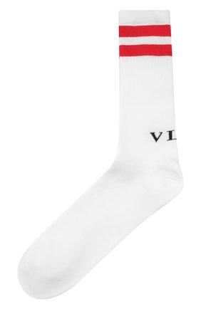 Мужские хлопковые носки VALENTINO белого цвета, арт. WV3KI01A7HV | Фото 1