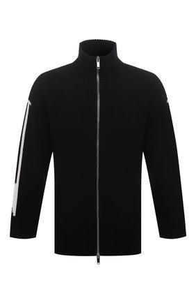 Мужской шерстяной кардиган VALENTINO черного цвета, арт. WV3KE01K7ME | Фото 1 (Стили: Кэжуэл; Мужское Кросс-КТ: Кардиган-одежда; Материал внешний: Шерсть; Рукава: Длинные; Длина (для топов): Стандартные)