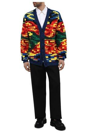 Мужской кардиган из шерсти и хлопка VALENTINO разноцветного цвета, арт. WV3KA01K7MK | Фото 2 (Материал внешний: Шерсть, Хлопок; Мужское Кросс-КТ: Кардиган-одежда; Стили: Бохо; Длина (для топов): Стандартные; Рукава: Длинные)