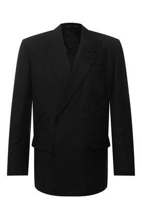 Мужской шерстяной пиджак VALENTINO черного цвета, арт. WV3CEB907G4 | Фото 1