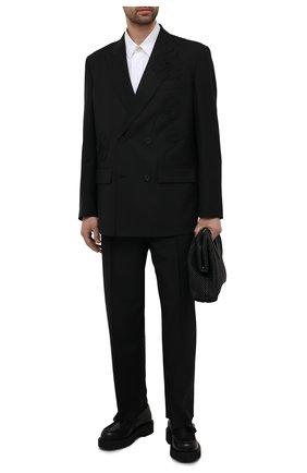 Мужской шерстяной пиджак VALENTINO черного цвета, арт. WV3CEB907G4 | Фото 2