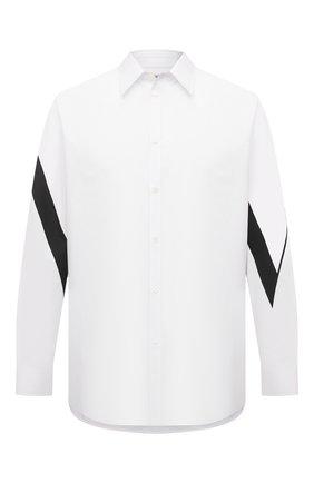Мужская хлопковая рубашка VALENTINO белого цвета, арт. WV3ABA956EW | Фото 1
