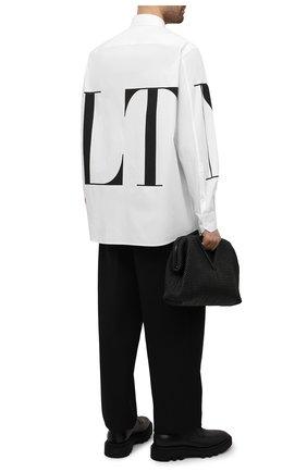 Мужская хлопковая рубашка VALENTINO белого цвета, арт. WV3ABA956EW | Фото 2