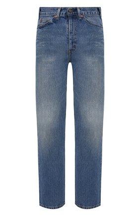Мужские джинсы valentino x levi's VALENTINO синего цвета, арт. VV0DD01G7FJ | Фото 1 (Детали: Потертости; Материал внешний: Хлопок, Деним; Длина (брюки, джинсы): Стандартные; Силуэт М (брюки): Широкие; Стили: Кэжуэл; Кросс-КТ: Деним)