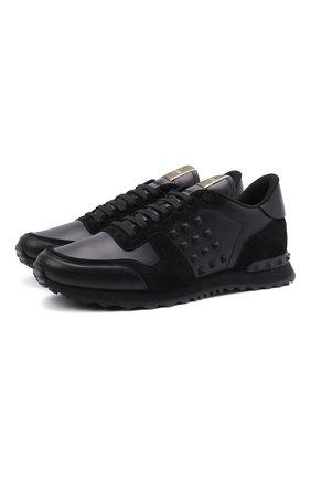 Кожаные кроссовки Rockrunner Valentino Garavani | Фото №1