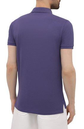 Мужское хлопковое поло POLO RALPH LAUREN фиолетового цвета, арт. 710680784   Фото 4