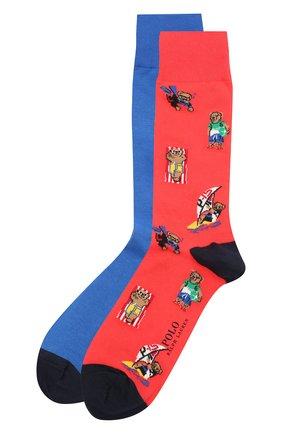 Мужские комплект из двух пар носков POLO RALPH LAUREN разноцветного цвета, арт. 449841582 | Фото 1