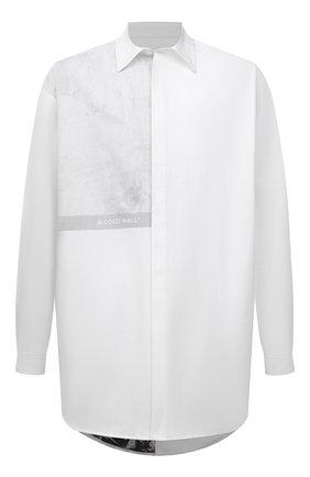 Мужская хлопковая рубашка A-COLD-WALL* белого цвета, арт. ACWMSH035 | Фото 1