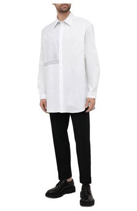 Мужская хлопковая рубашка A-COLD-WALL* белого цвета, арт. ACWMSH035 | Фото 2