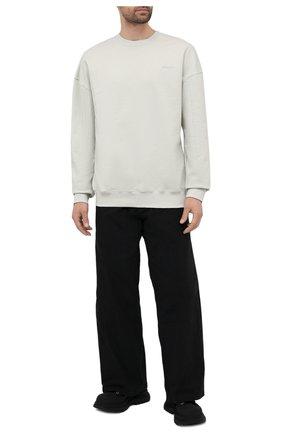 Мужской хлопковый свитшот A-COLD-WALL* светло-серого цвета, арт. ACWMW032 | Фото 2