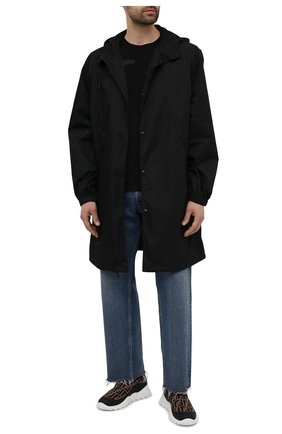 Мужские текстильные кроссовки FENDI коричневого цвета, арт. 7E1254 A7MN   Фото 2