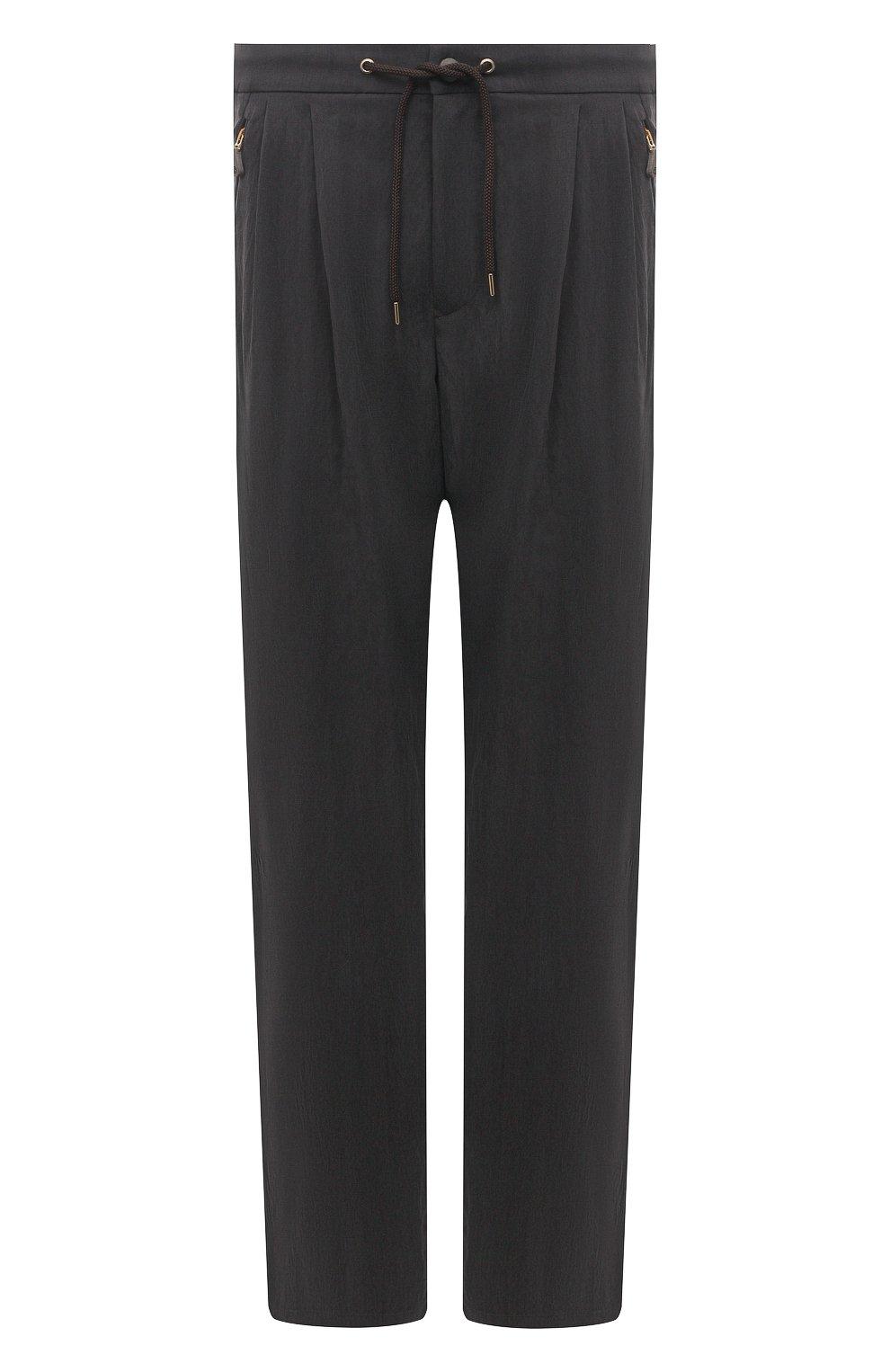 Мужские брюки GIORGIO ARMANI темно-серого цвета, арт. 1WGPP0JA/T02P0 | Фото 1