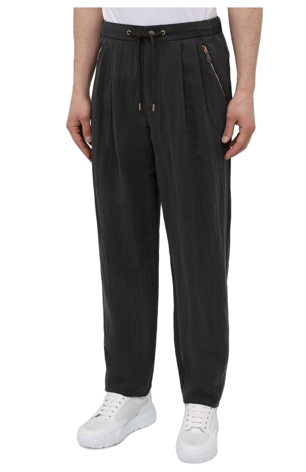 Мужские брюки GIORGIO ARMANI темно-серого цвета, арт. 1WGPP0JA/T02P0 | Фото 3